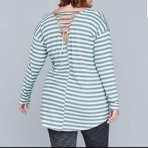 Lane Bryant | Lace Up Back Sweatshirt